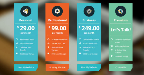 WP Engine WordPress Hosting  Price List